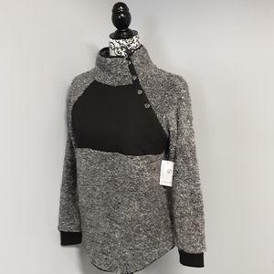 NWT Eden Ruth Snap Button Sherpa Pullover Sz S